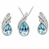 Swarovski Elements Souprava Tear Drop SWS093