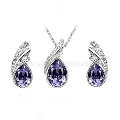 Swarovski Elements Souprava Tear Drop SWS094
