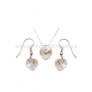 Set Swarovski Elements srdce moonlight SWS120