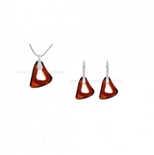 Souprava Swarovski Elements Organic Cosmic Triangle Red Magma SWS067