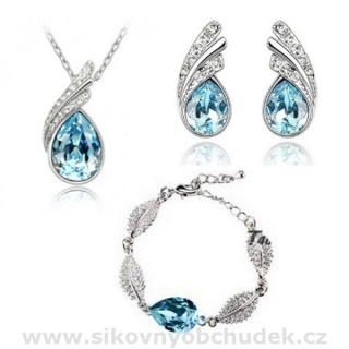 Swarovski Elements Souprava s náramkem Tear Drop SWS146
