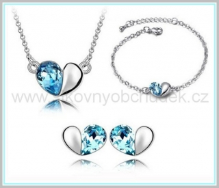 Souprava Swarovski Elements Hearts SWS101