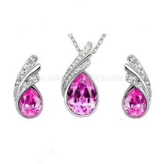 Swarovski Elements Souprava Tear Drop SWS097